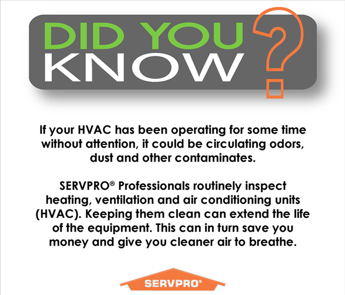 Why SERVPRO Do You Have Dirty Ducts?